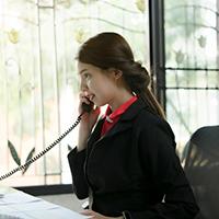 teacher on the phone